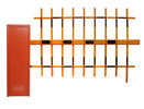 Red Yellow Orange Automatic Barrier Gate Parking Lot Barriers With Fencing