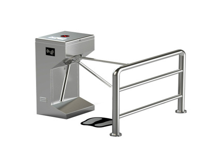Factory Entrance People Walking Anti-collision ESD Alarm Automatic 3 Arm Rotating Tripod Turnstile Gate With RFID Reader