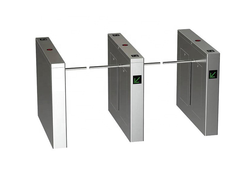 Flow Access Control Turnstile Barrier Gate Fingerprint Face Recognition System With Single Arm