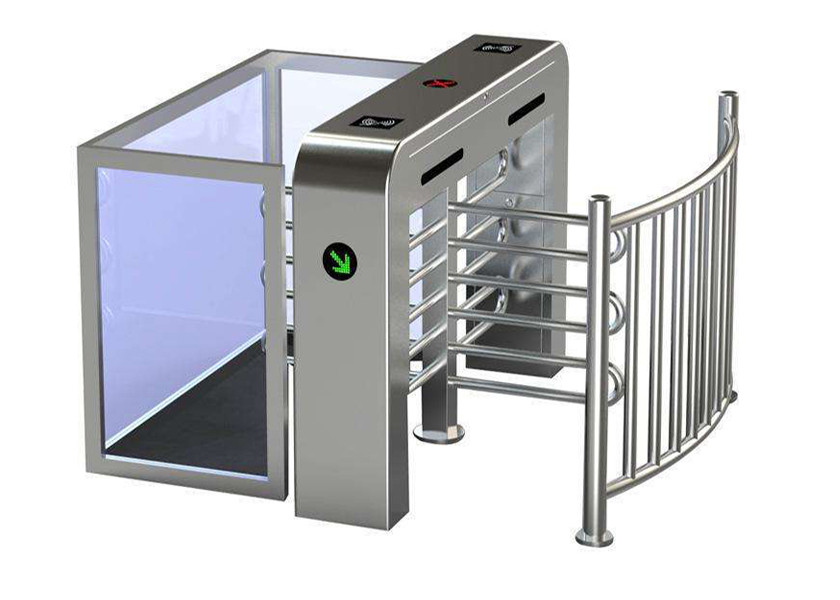 Semi Automatic Security Half Height Turnstile Compatible IC / ID Card