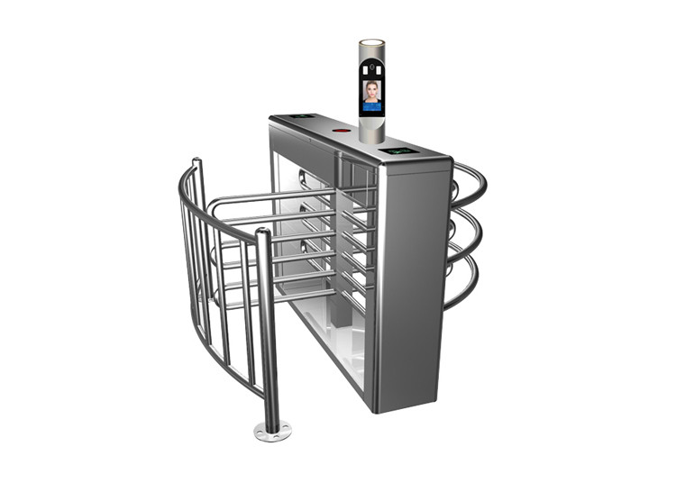 Face Recognition 40cm Arm 40W Waist Height Turnstile